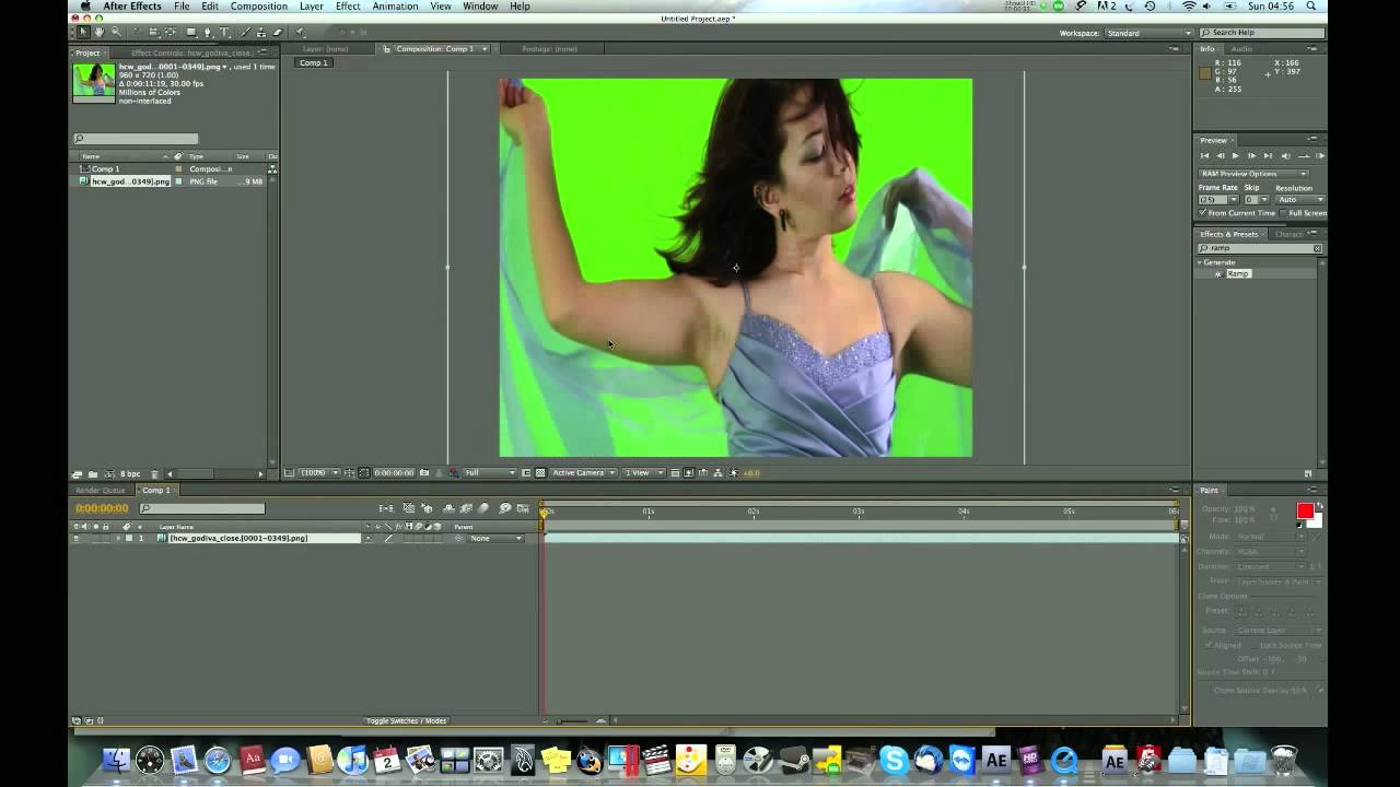 how to use green screen after effects