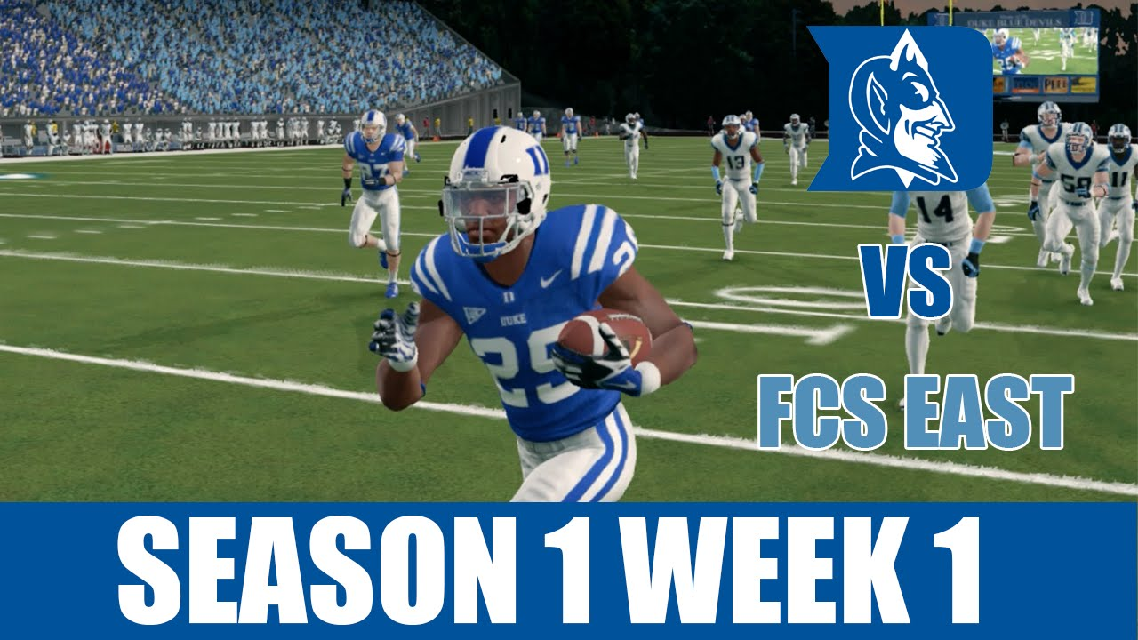 Ncaa Football 14 Duke Dynasty Week 1 Vs Fcs East S1w1 Ep2