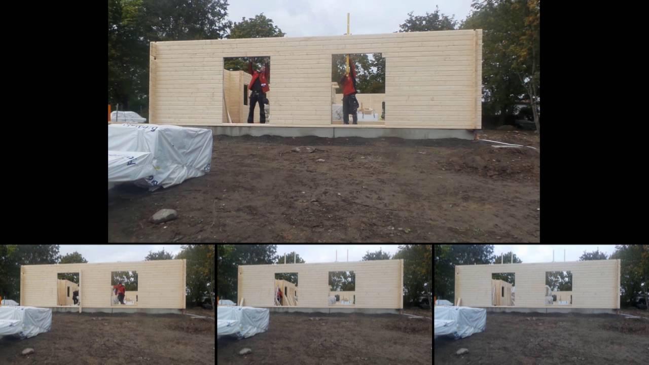 Aufbau Unseres Fjorborg Holzhauses Youtube