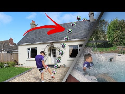 Thumbnail: INSANE OVER THE HOUSE FOOTBALL FORFEITS CHALLENGE!!