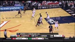 Rick Pitino (Louisville) - Offensive Actions vs  Virginia