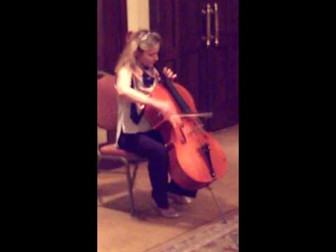 Cellist Maja Bogdanovic Playing Bach at Maestro Circle Luncheon