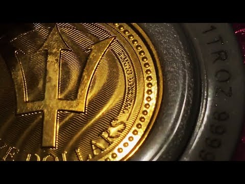 2017 1 Oz Barbados Gold & Silver Trident Unboxing!