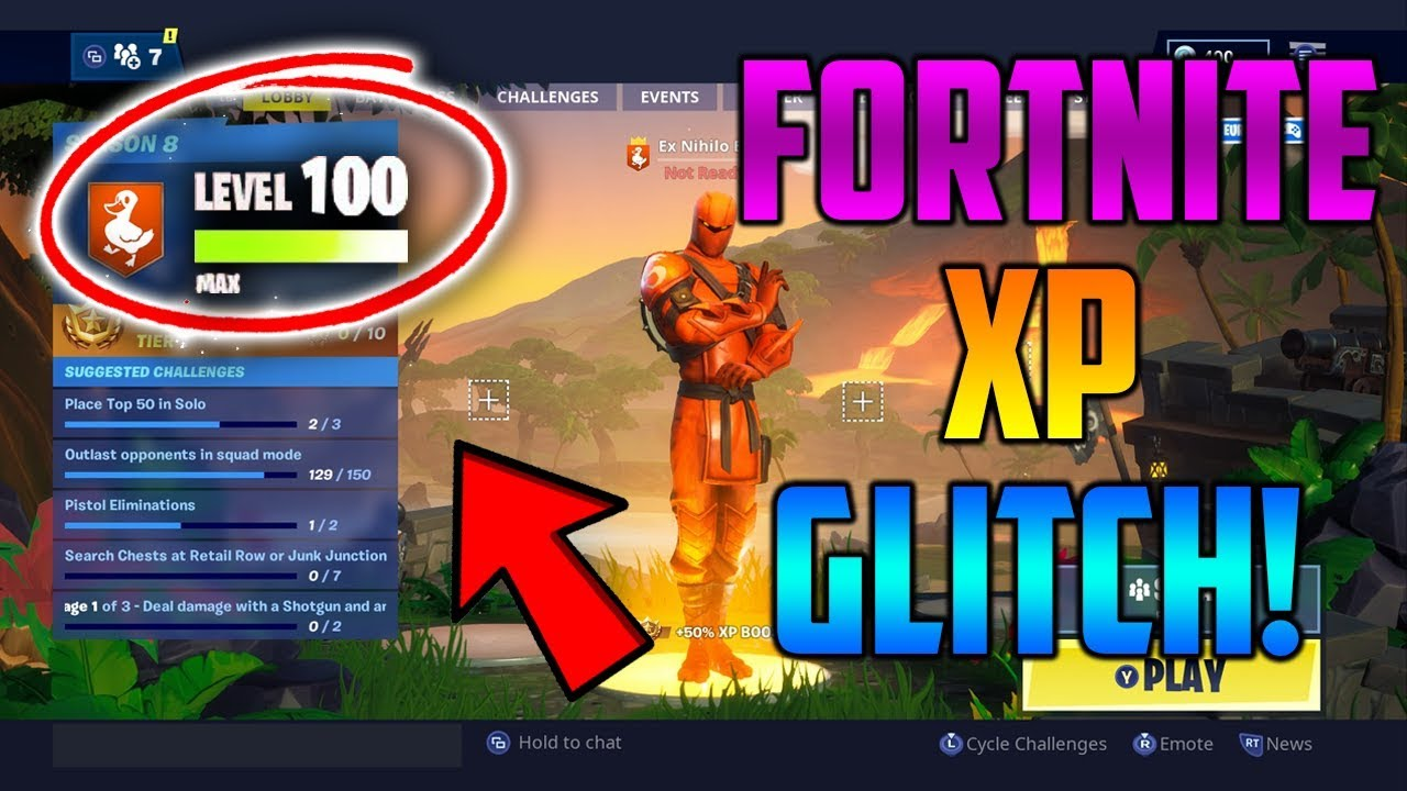 INSANE *NEW* FORTNITE XP GLITCH! *SEASON 8* (TUTORIAL) | EASY LEVEL 100! –  FORTNITE