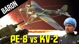Pe-8 Bombers w/ 5000kg Bombs vs KV-2s, Insanity (War Thunder)