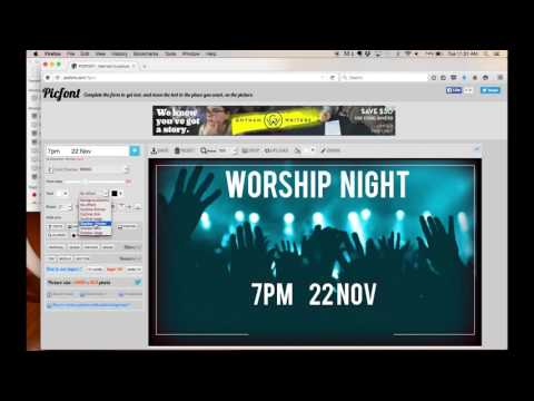 Create Church Flyer: Worship Night - Tutorial