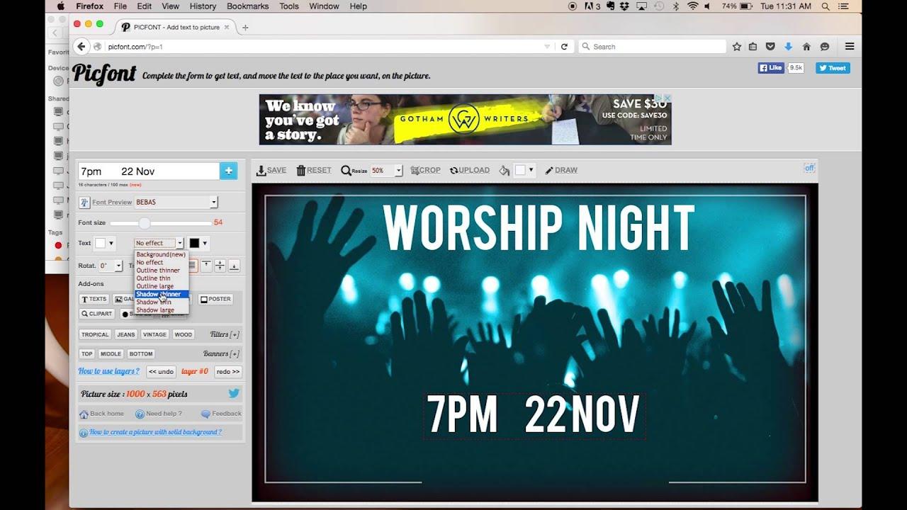 create church flyer worship night tutorial create church flyer worship night tutorial