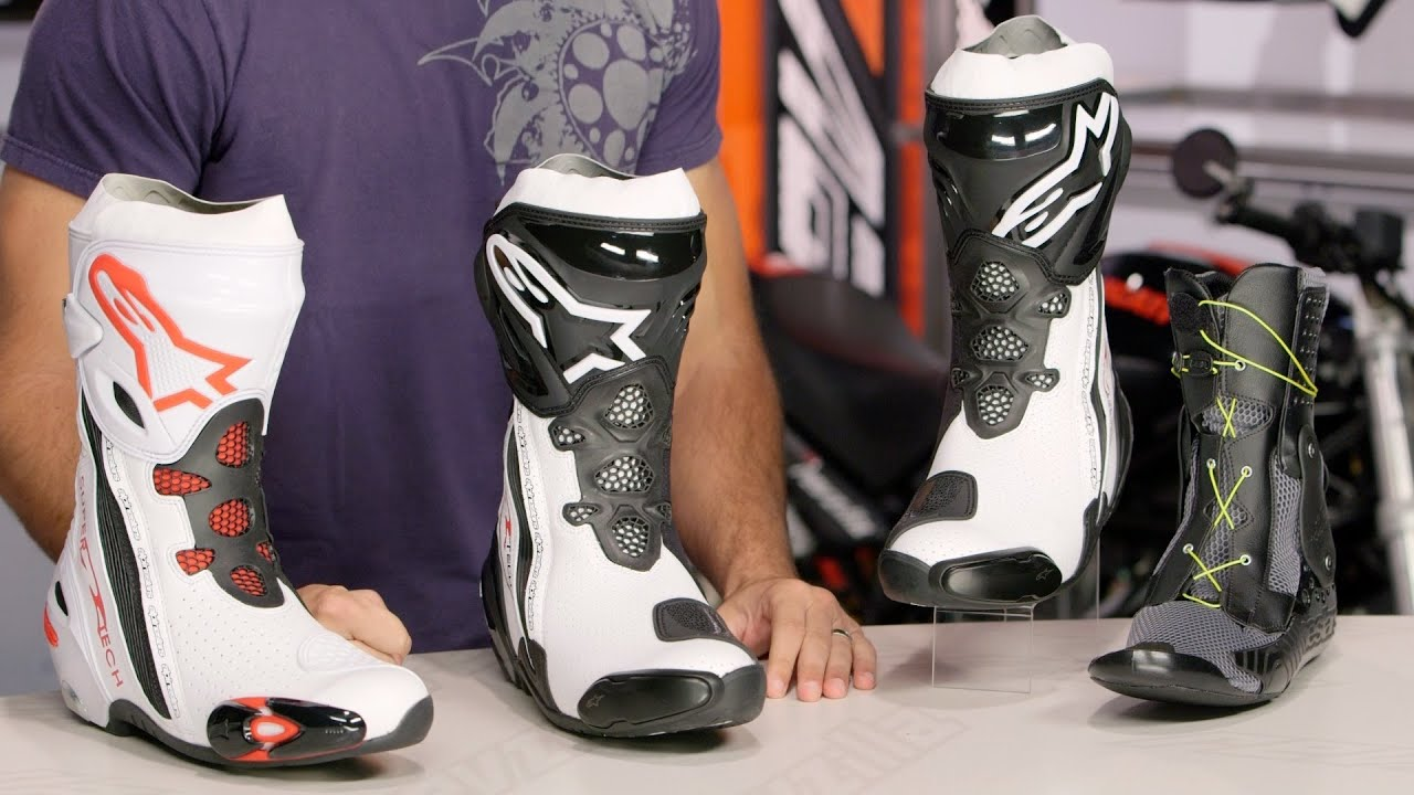 alpinestars supertech r boots review at youtube. Black Bedroom Furniture Sets. Home Design Ideas
