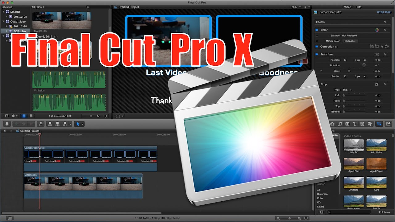 How to Make a YouTube Outro with FCPX (Final Cut Pro X) 2015 - YouTube