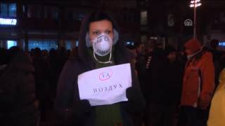 Air pollution protest in Macedonia 1