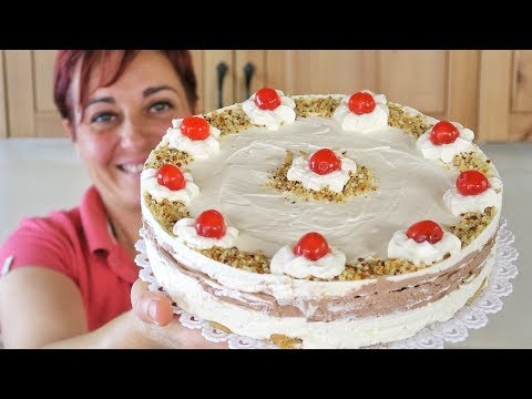 VANILLA AND CHOCOLATE ICE CREAM CAKE Easy recipe without ice cream maker