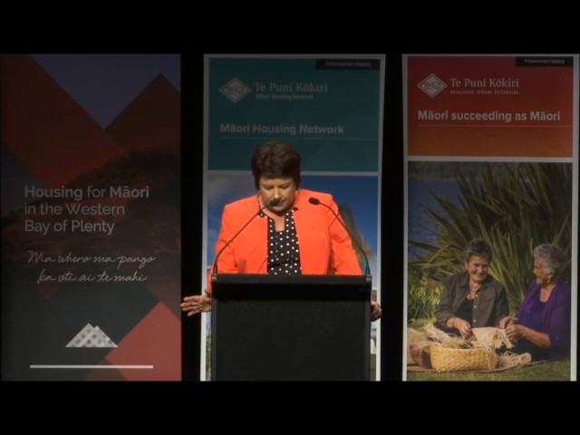 Tauranga National Māori Housing Conference 2016 - Minister of Social Housing Paula Bennett