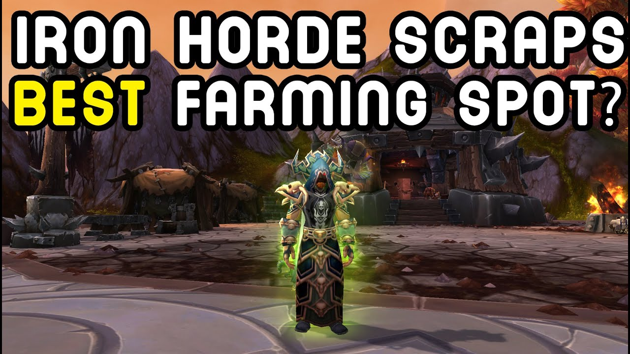 Iron Horde Scraps Best Farming Spot Warlords Of Draenor Youtube