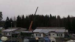 Ruununmyllyn koulun rakennustyömaa nopeutettuna Timelapse-videota