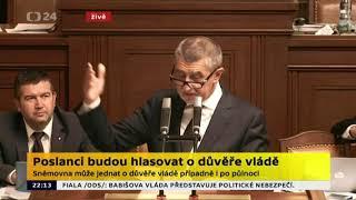 Babiš vytočený Kalouskem , hlasování o důvěře vládě 11 7 2018