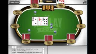 Playing Live Poker (Replay Poker) stream #1