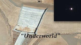 Aerial view reveals door to underground base near Hoover/Nellis