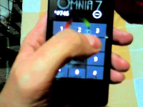 Samsung Omnia 7 sim error