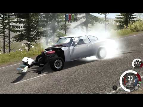 BeamNG.Drive, Turning Tires Into Melted...