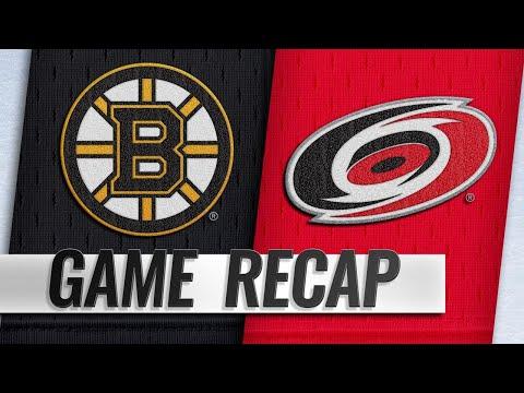 Aho, Teravainen power Hurricanes past Bruins, 5-3