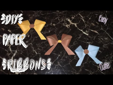 DIY Paper Ribbons!! How to make cute paper ribbon !! Easy Origami Ribbon
