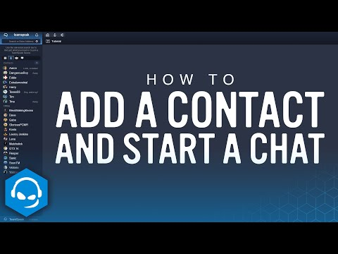 How to Add a Contact and Start a Chat on TeamSpeak Mp3