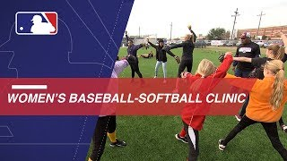 MLB holds baseball and softball clinic for women