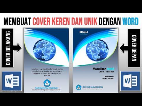 Cara Membuat Cover dengan Word: Cover Makalah, Cover Laporan, cover Buku...