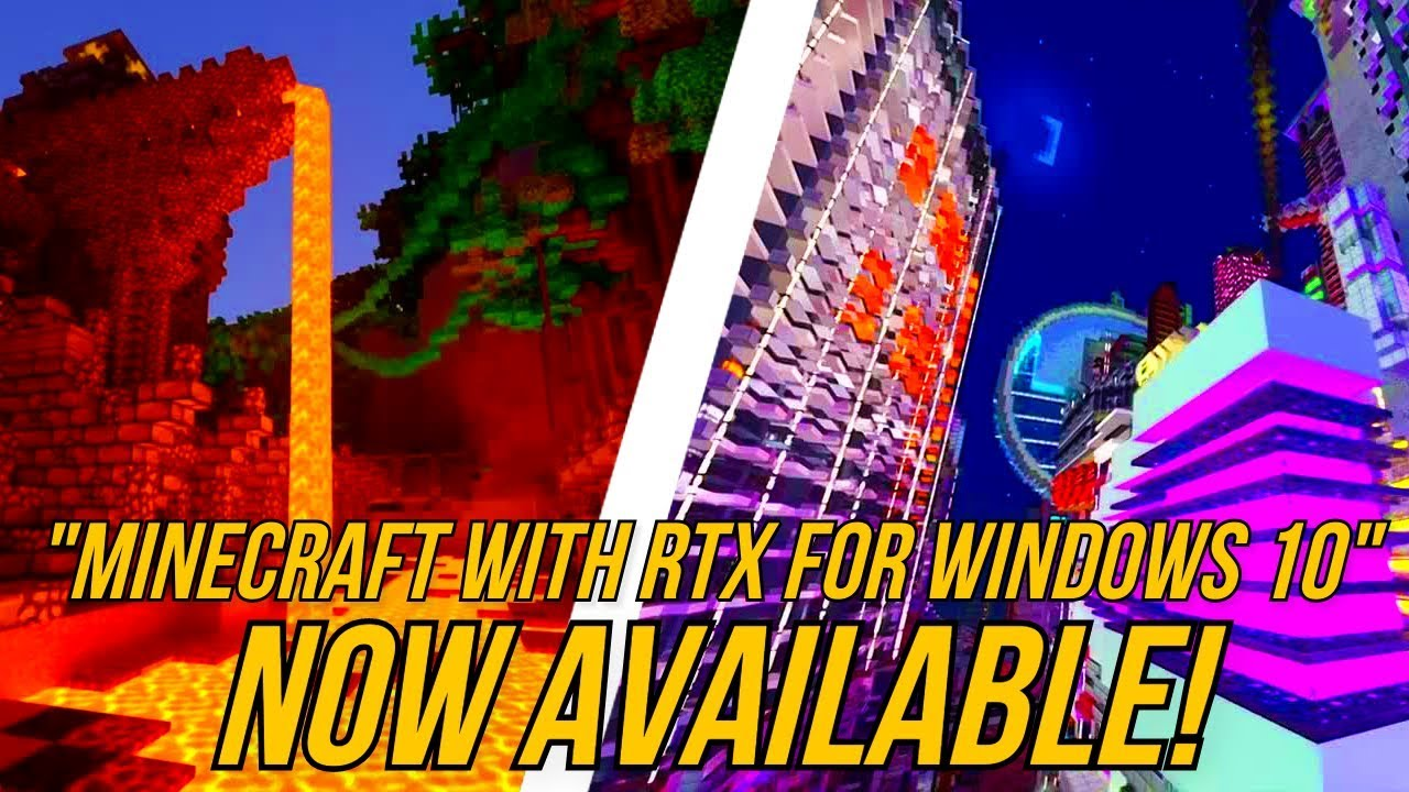 Minecraft with RTX for Windows 10 IS NOW AVAILABLE! (Trailer & Discussion)