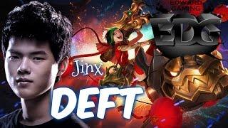 EDG Deft JINX ADC vs Sivir - Patch 5.21 KR   League of Legends