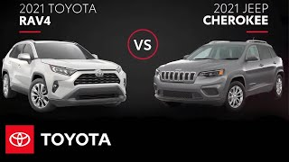 homepage tile video photo for 2021 Toyota RAV4 vs. 2021 Jeep Cherokee | All You Need to Know | Toyota