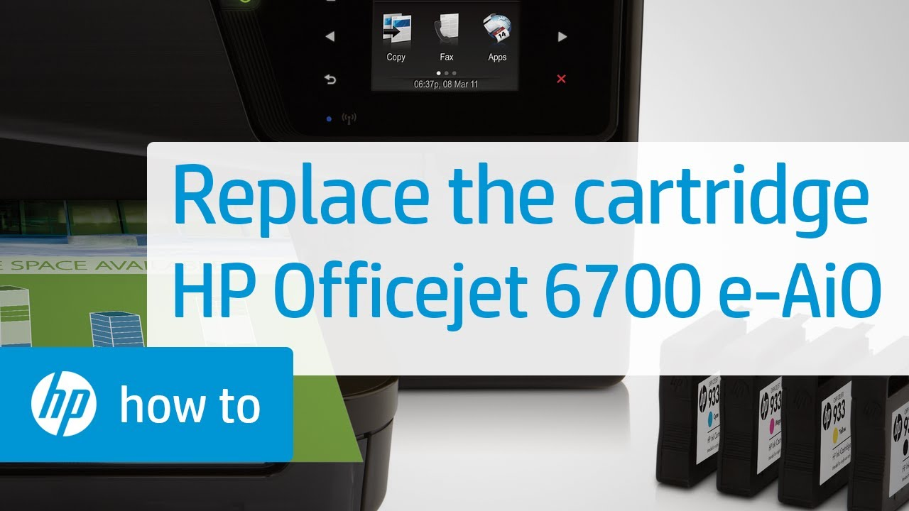Replacing A Cartridge Hp Officejet 6700 Premium E All In