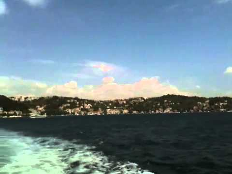 Cruise along Bosphorus Strait that separate Europe & Asia a