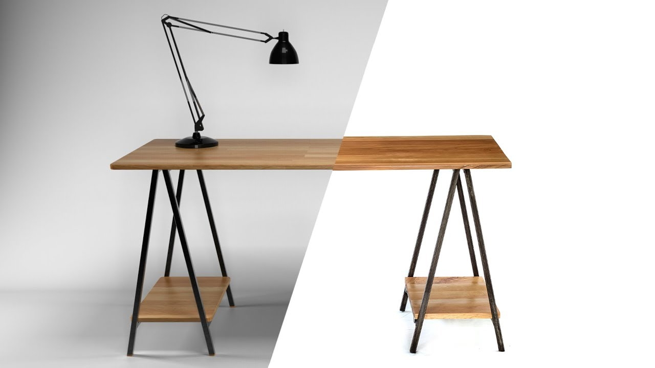 DIY Folding Sawhorse Desk [Detailed Narration] Design Inspirations