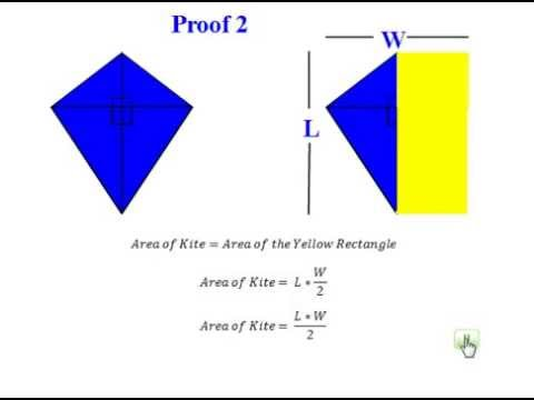 Proof Of Area Of Kite Youtube