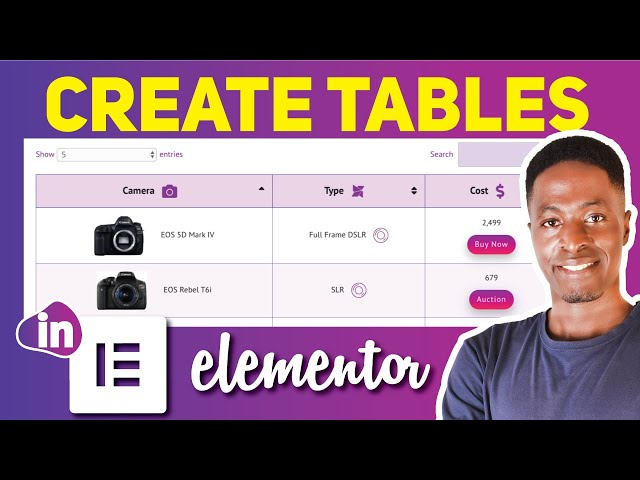 ELEMENTOR TABLE TUTORIAL WITH IMAGES: How to Create Tables in Elementor. (search, sort, and filter)