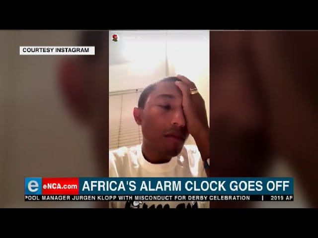 Pharrell gets a good old Hadeda wake-up call in South Africa!