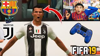 PARTIDO ÉPICO!!! Messi vs CR7 (Barcelona vs Juventus) - en FIFA19 *con castigo*
