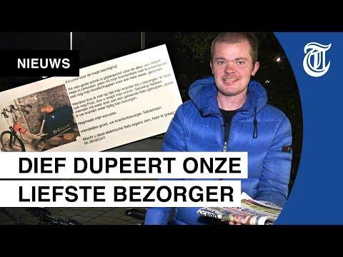 Telegraaf-bezorger: 'Sorry, Sorry, Sorry!'
