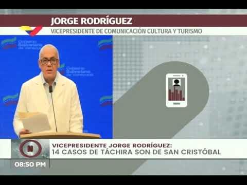 Reporte Coronavirus Venezuela, 22/07/2020: 390 casos y 4 fallecidos, informa Jorge Rodríguez