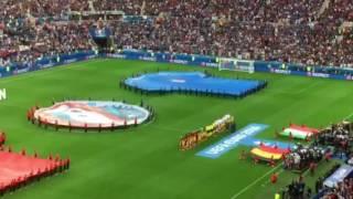 Hymne Italien applaudi par le public belge - Italie Belgique - Euro 2016 - 13 juin 2016