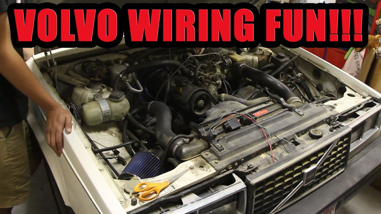 small resolution of slicing open the big turbo volvo wiring harness