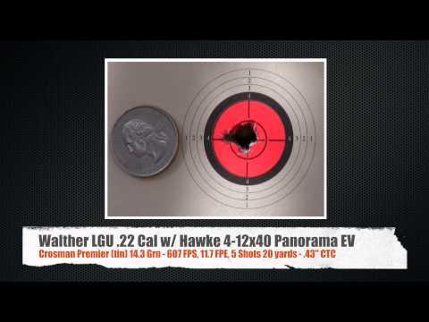 Walther LGU .22 with Hawke Panorama EV Scope - by Airgun Expert Rick Eutsler / AirgunWeb