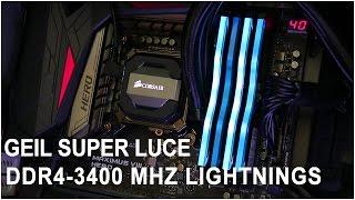 GEIL Super Luce Blue DDR4-3400 MHz Light Effect