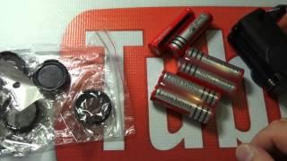 Распаковка и обзор аккумуляторов  BRC 18650 и зарядного устройства к ним