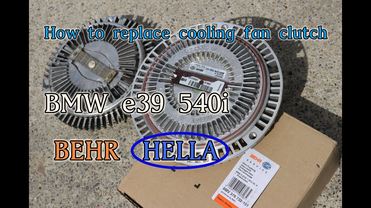 How to remove and replace fan clutch on bmw e39 540i e31 e32 e34 e38