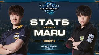 Stats vs Maru PvT - Group B Elimination - 2019 WCS Global Finals - StarCraft II