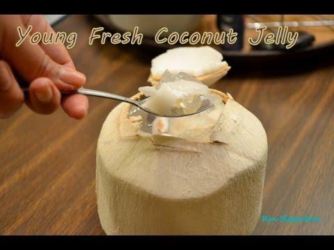 Fresh Coconut Jelly วุ้นมะพร้าวอ่อนสุดหอมหวาน