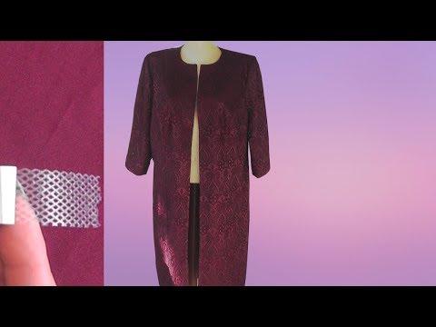Клеевая паутинка | Обработка бортов | низ | дошиваем летнее пальто