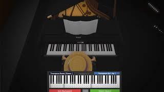 Roblox virtual piano: Fallout 4 main theme *INTERMEDIATE*